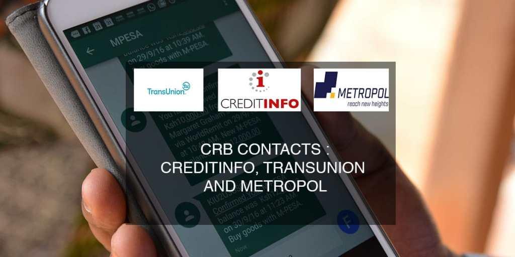 crb contacts metropol creditinfo transunion
