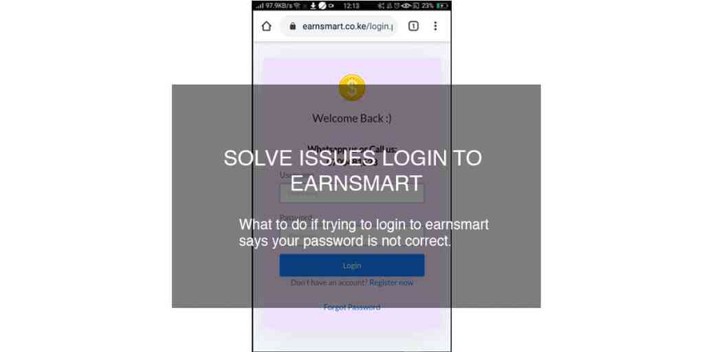 solve issues login to earnsmart