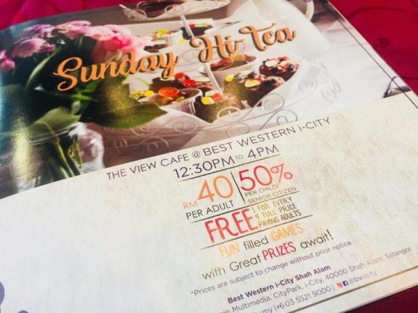 ITS ME TIME ! SUNDAY HI TEA DENGAN BFF DI THE VIEW CAFE @ BEST WESTERN i-CITY SHAH ALAM