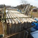 農業施設:農具小屋の屋根修理