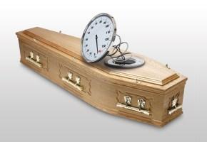 Overweight coffin