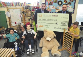 Pace Centre donation cheque