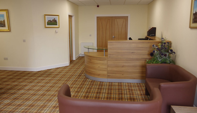 Barrhead reception area
