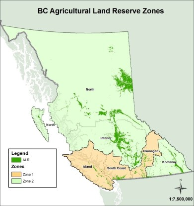 BR Agricultural Land Reserve Zone Map