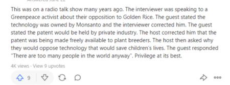Golden Rice Greenpeace propaganda