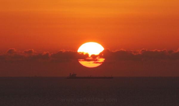 sunset 12 March 2013 Labuan Malaysia