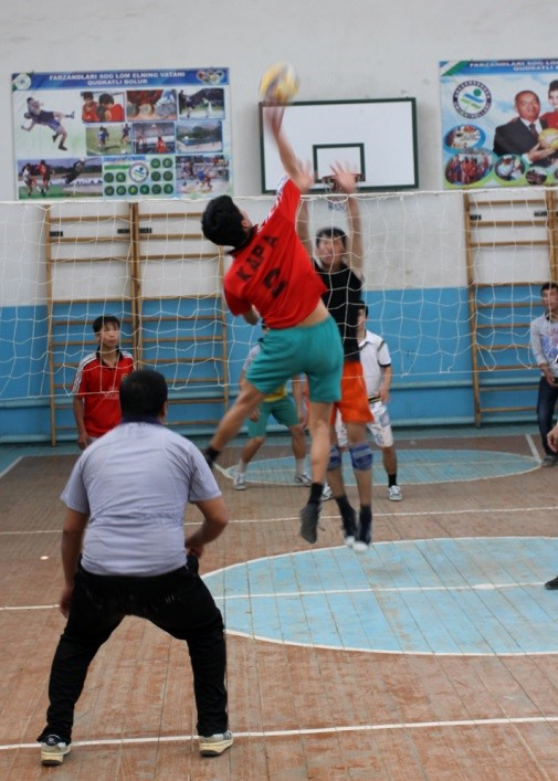 The winning point in volleyball's 'Saiga Cup'