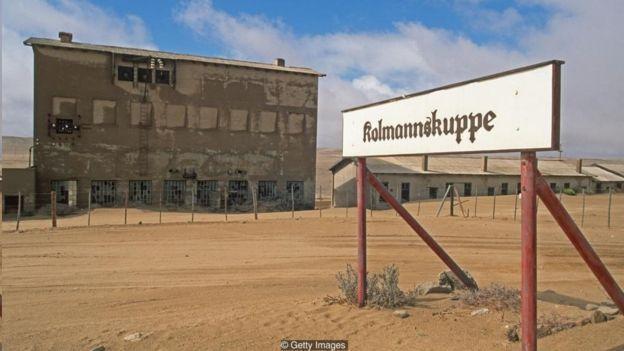 Kolmanskop's diamond mine