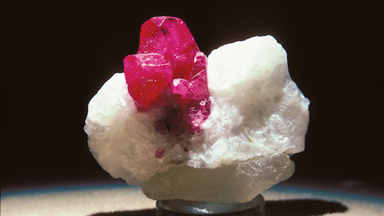 Rubies found in marble deposits often have a vibrant red glow. GIA