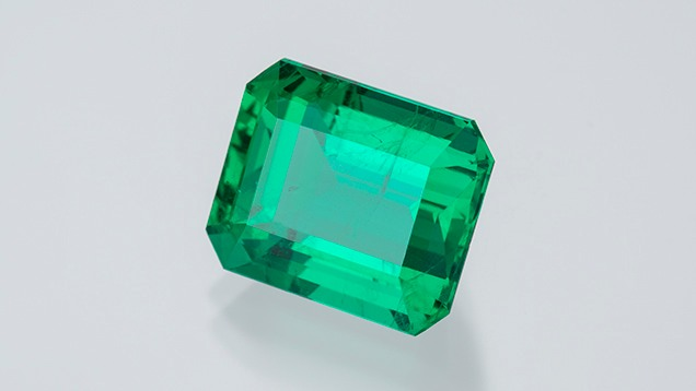 This 9.29 ct Brazilian emerald at the mine ofBelmont.