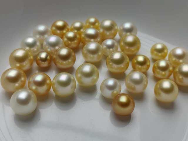 Ngọc trai biển Golden South Sea Pearl vàng óng ả nuôi cấy ở đảo Mergui, Myanmar. Andaman Pearl
