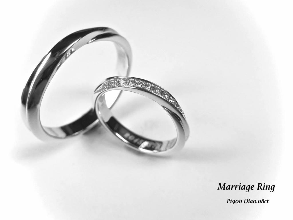 マリッジリング 結婚指輪 シンプル ダイヤモンド SAIJO 森拓郎