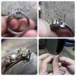 ダイヤモンドのジュエリーリフォーム 製作途中 SAIJO 京都 宇治 オーダーメイドジュエリー