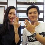 SAIJOで作られたオーダーメイドの結婚指輪|SAIJO|京都 宇治|オーダーメイドジュエリー