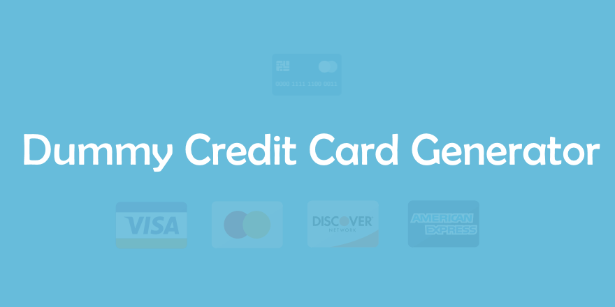 If you use or plan to use an apple device, having an apple id will unlock a variety of services for you. Dummy Fake Credit Card Generator