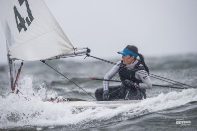 Nancy Highfield racing in Polish national championships.