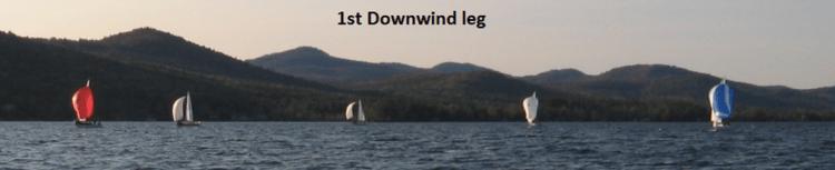 First downwind leg