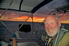 Sunsets at sea...