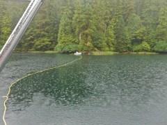 Stern tying in the rain...ahhh