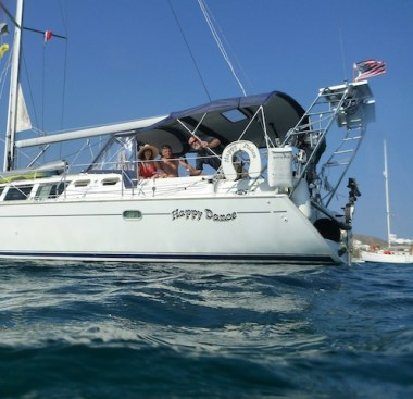 The crew in Bahia Frailles