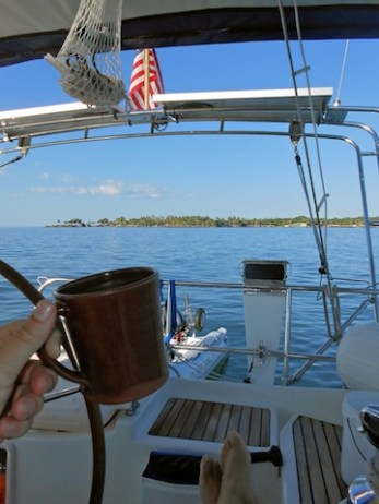 Coffee on the hook in Matanchen Bay