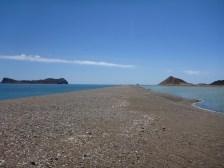 Sand spit at Isla Estanque