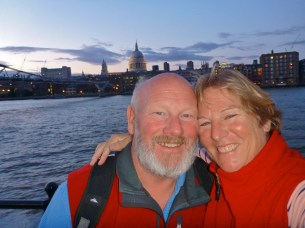 Happy dancers on the Thames