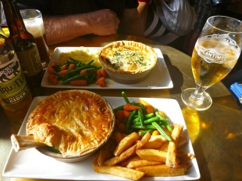 Lamb shank pie and venison pie..yum!