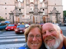 Selfie in front of the cathedral