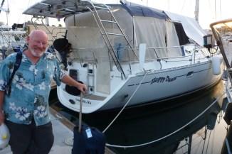 Leaving boat sweet boat