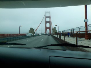 Going over the Golden Gate (and remembering going under it 3 years ago!)