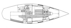 SV Fin J40 interior Sail Amelia Relax