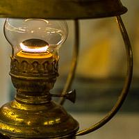 Kerosene lantern aboard sailboat