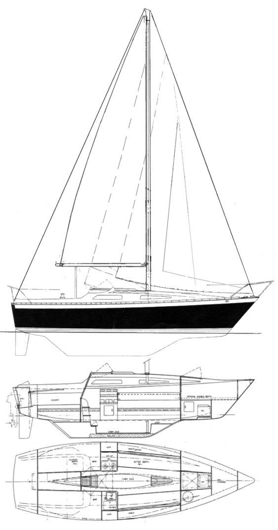 LANCER 25 Sailboat