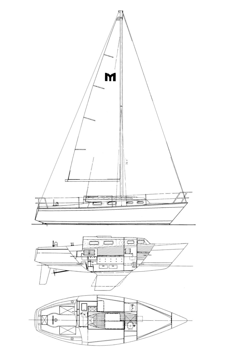 MARINER 28 CANNING Sailboat