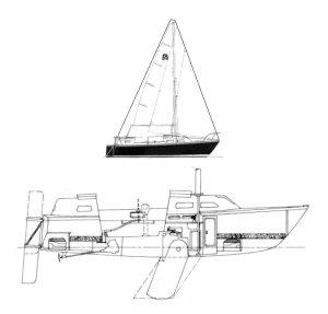 SailboatData  MIDSHIP 25 Sailboat