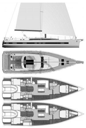 SailboatData  OCEANIS YACHT 62 (BENETEAU) Sailboat