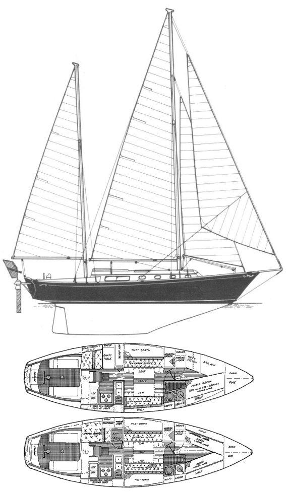SHANNON 38 Sailboat