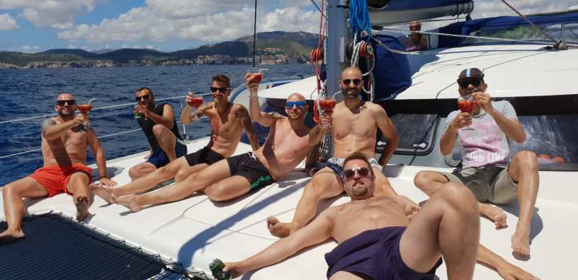 Mallorca private catamaran day trip stag party