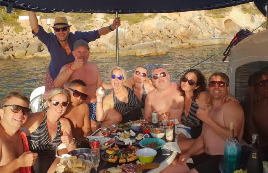 Mallorca catamaran trips - Sail go catamaran -  Tapas during sailing trip