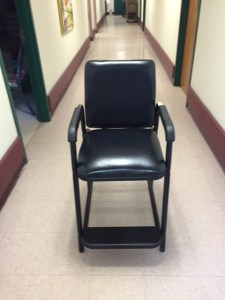 Photo of a narrow hip chair