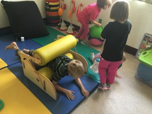 Children playing in accessible room at Southern Adirondack Independent Living Center