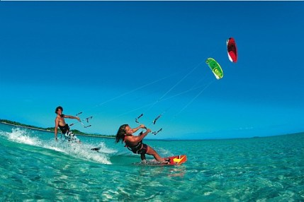 Kitesurfing,Union Island, Grenadines