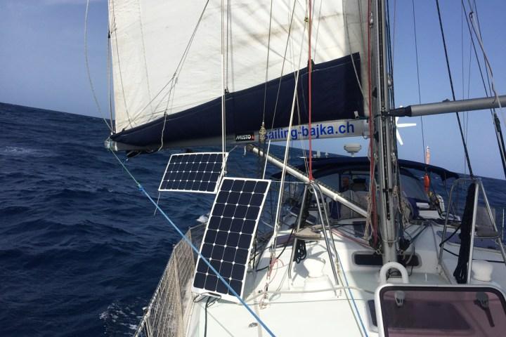 Flexible Solarmodule Atlantikueberquerung