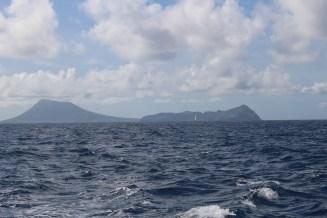 St. Eustatius (Statia) on the sail to St. Martin
