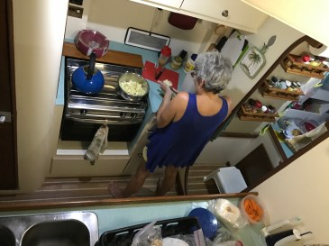 Escaping to the galley