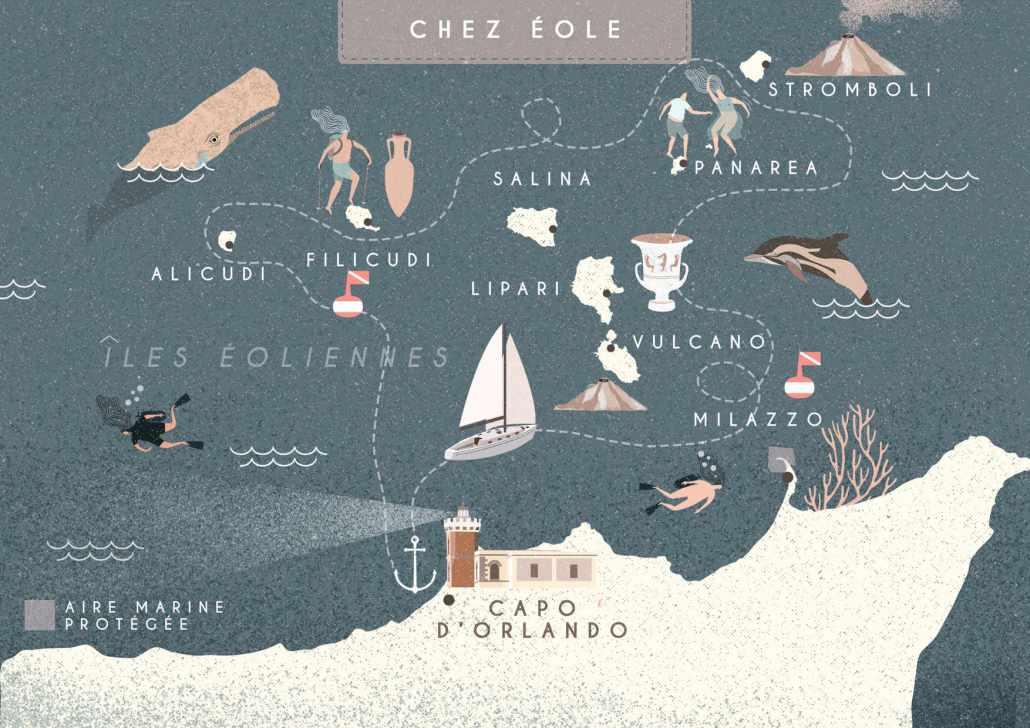 Chez Éole, Sailing Bubbles itinéraire © Il cielo in una sogliola