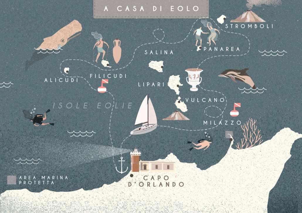 A casa di Eolo, Sailing Bubbles itinerario © Il cielo in una sogliola