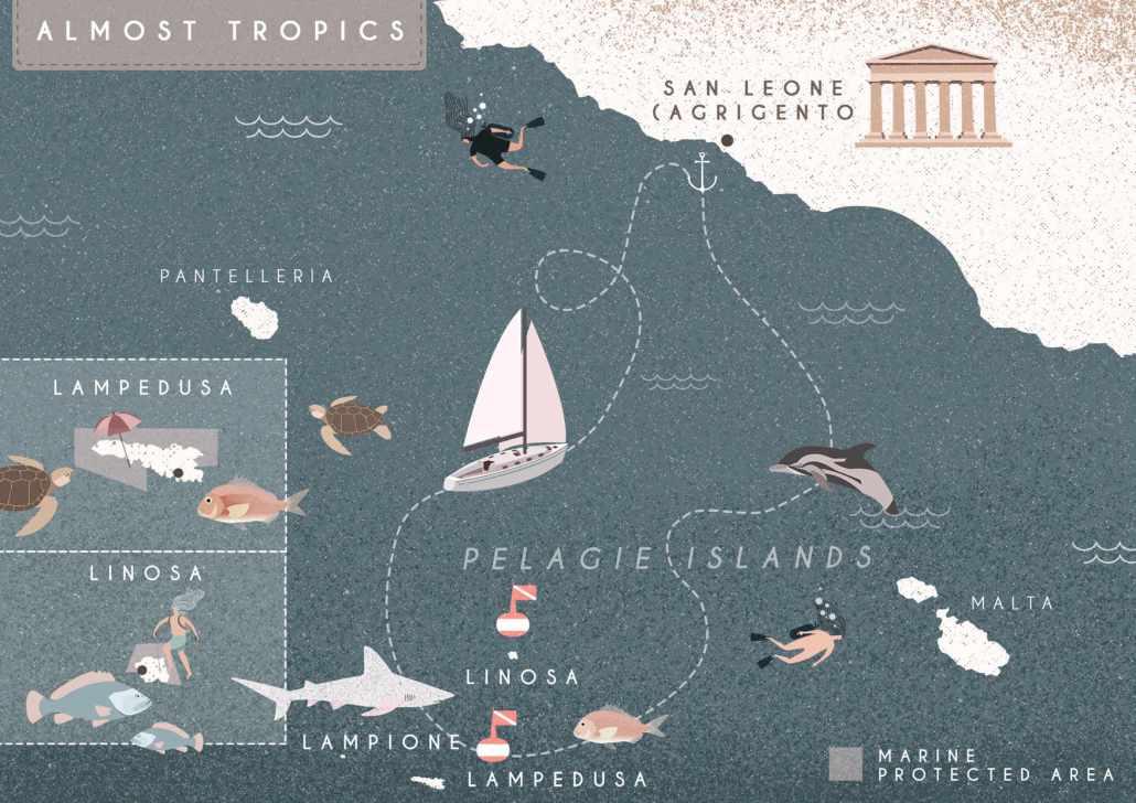 Almost tropics, Sailing Bubbles itinerary © Il cielo in una sogliola