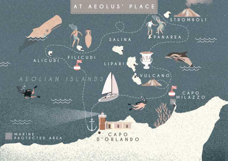 At Aeolus' place, Sailing Bubbles itinerary © Il cielo in una sogliola